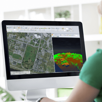 Drone Lidar for Reporting progress of construction
